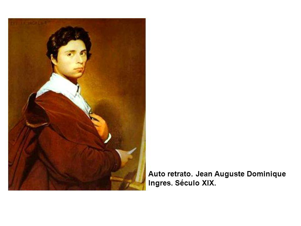 Auto retrato. Jean Auguste Dominique Ingres. Século XIX.