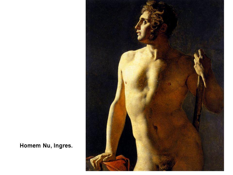 Homem Nu, Ingres. O Jardim das Delícias, Hieronymus Bosch. 1500