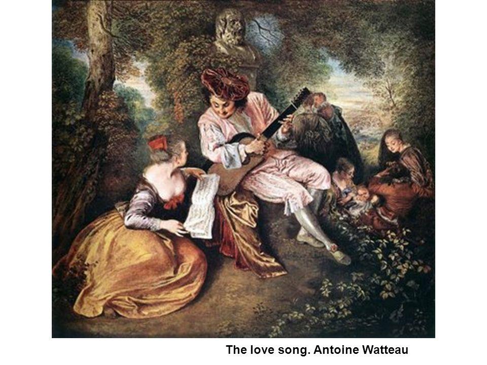 The love song. Antoine Watteau