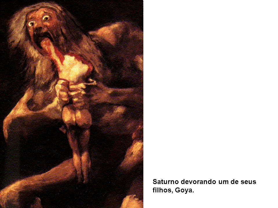 Saturno devorando um de seus filhos, Goya.