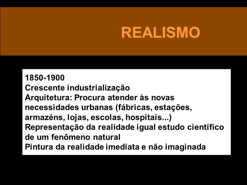 REALISMO 1850-1900 Crescente industrialização