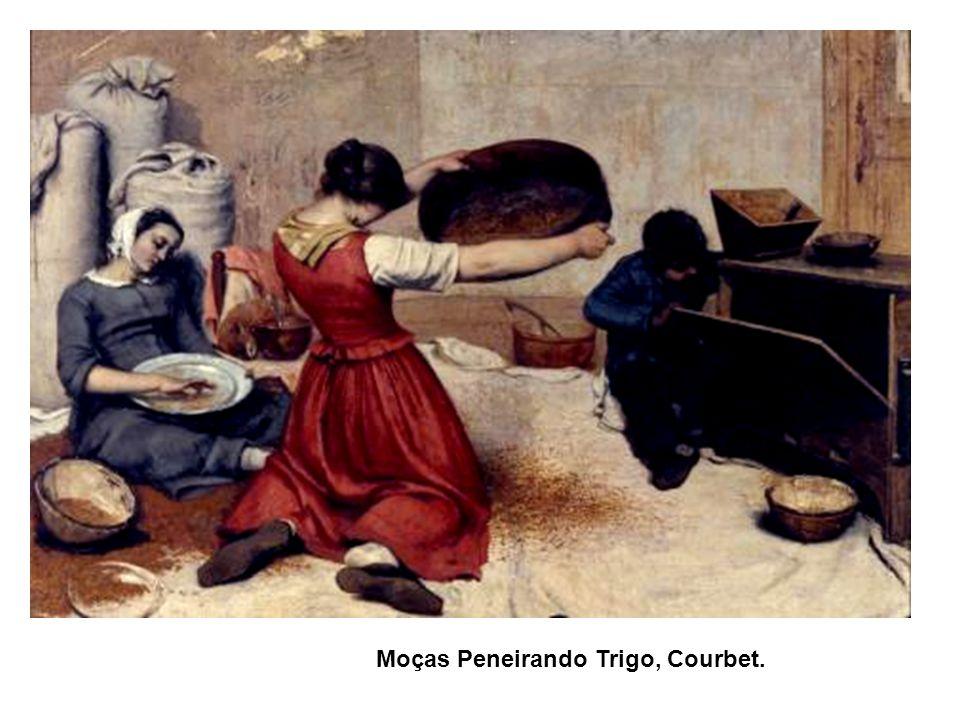 Moças Peneirando Trigo, Courbet.