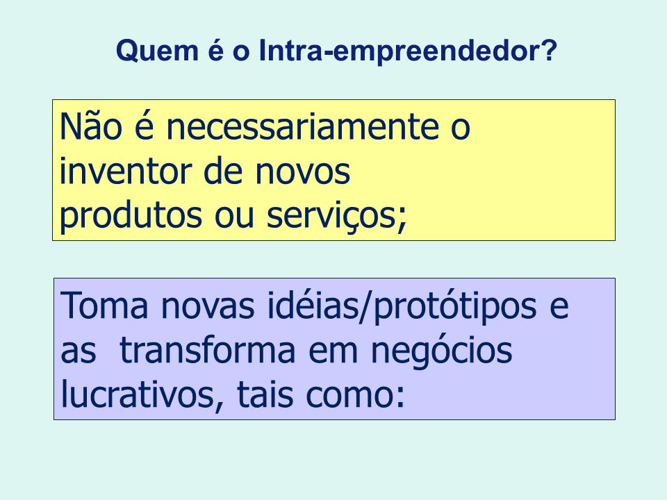 Quem é o Intra-empreendedor