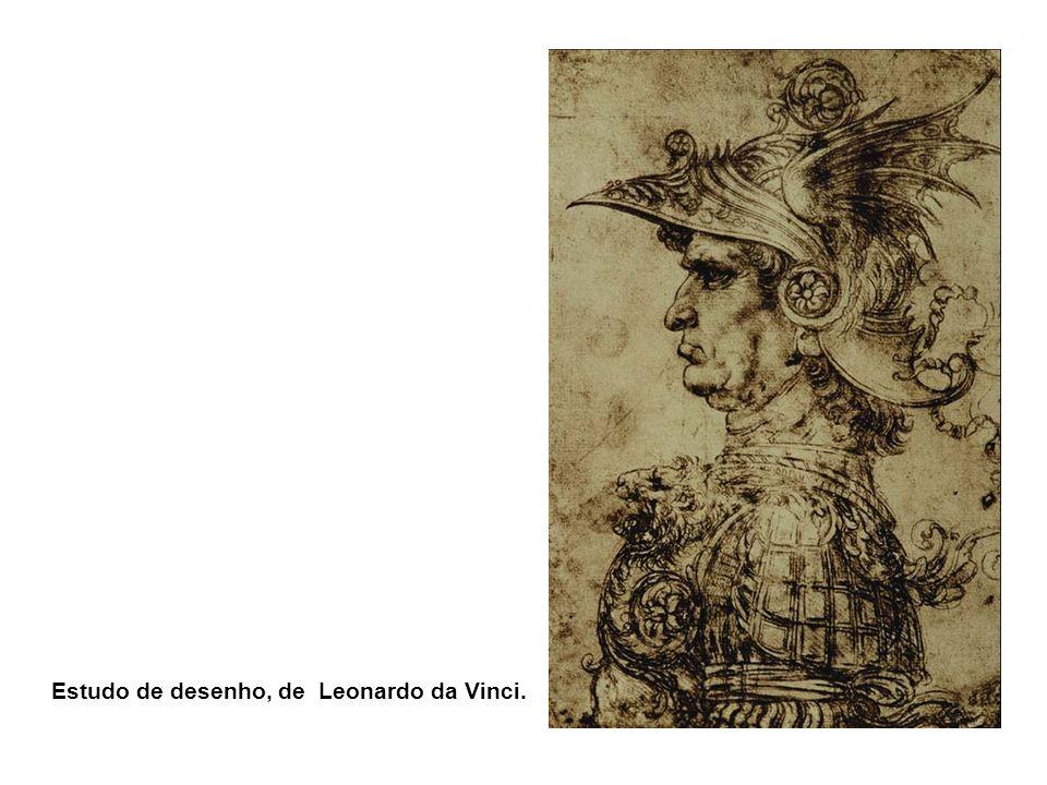 Estudo de desenho, de Leonardo da Vinci.
