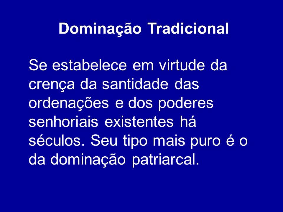 Dominação Tradicional