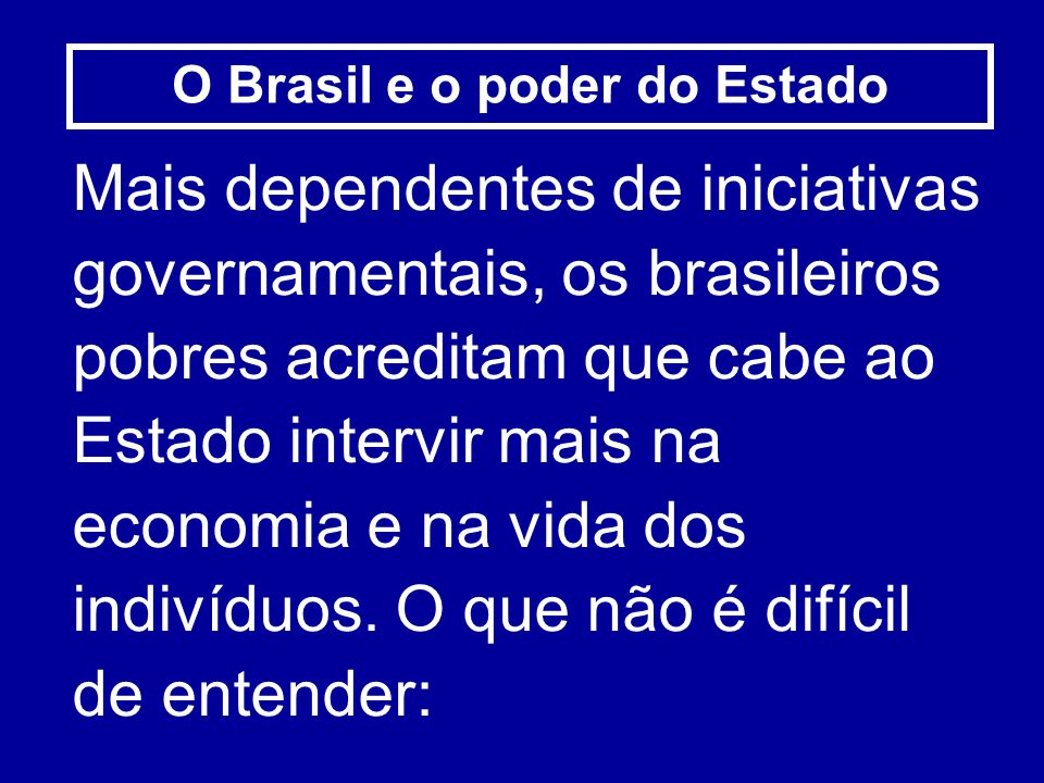 O Brasil e o poder do Estado