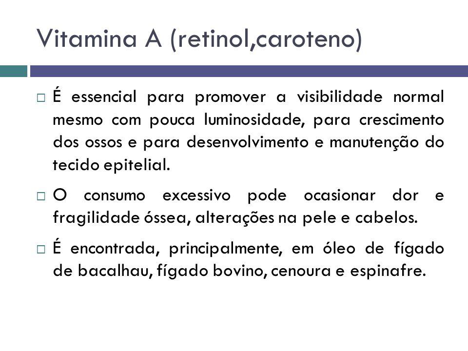 Vitamina A (retinol,caroteno)