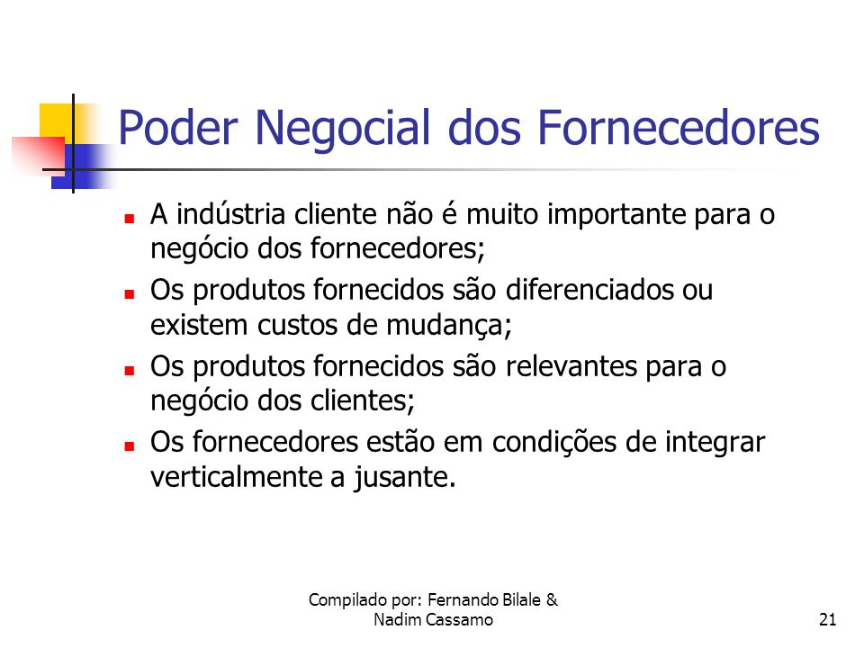 Poder Negocial dos Fornecedores