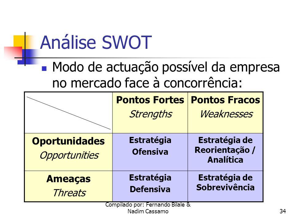 Estratégia de Reorientação / Analítica Estratégia de Sobrevivência