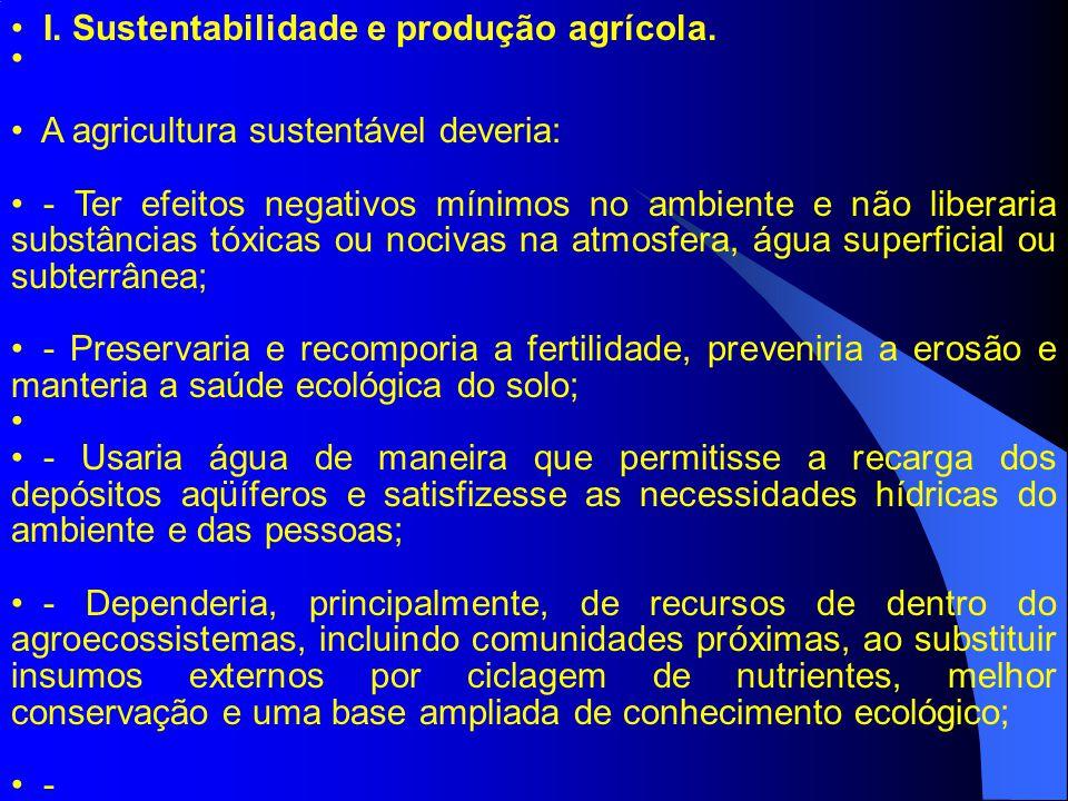 A agricultura sustentável deveria: