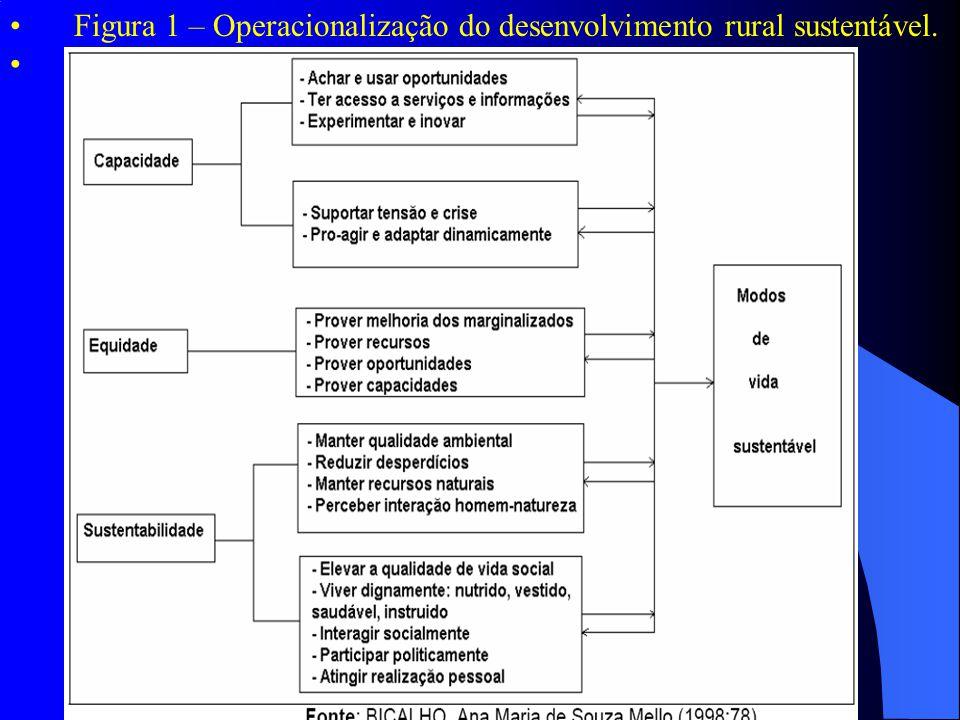 Figura 1 – Operacionalização do desenvolvimento rural sustentável.