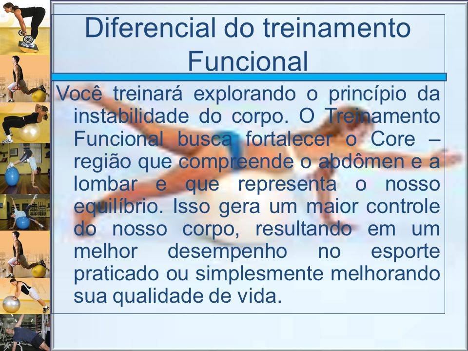 Diferencial do treinamento Funcional