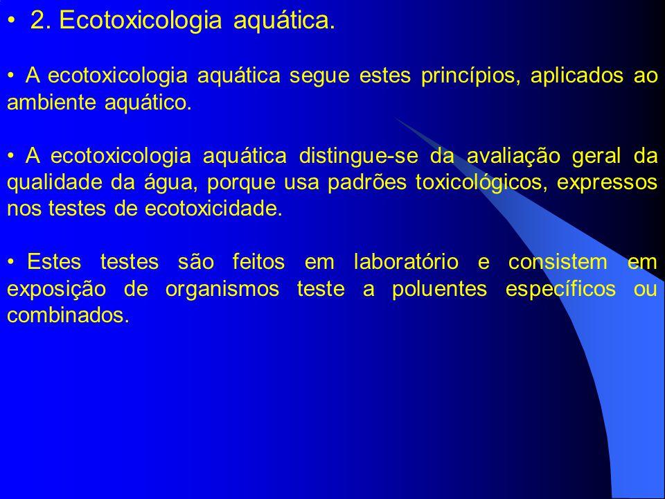 2. Ecotoxicologia aquática.