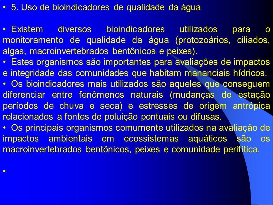 5. Uso de bioindicadores de qualidade da água