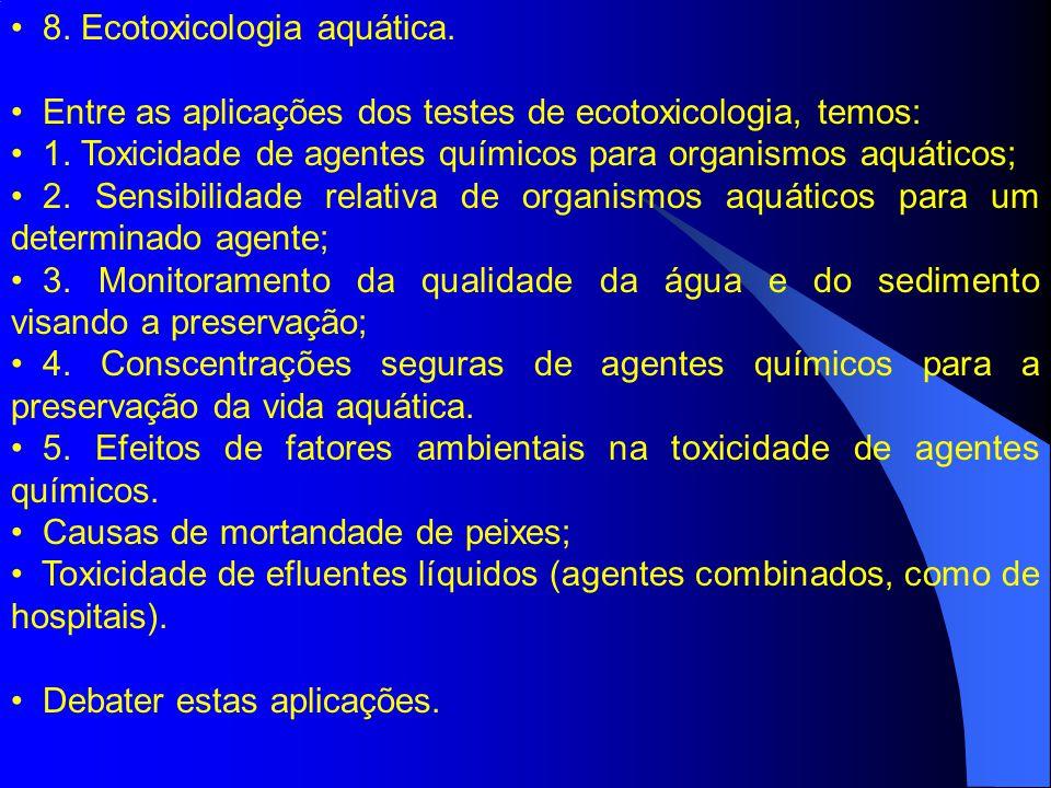 8. Ecotoxicologia aquática.