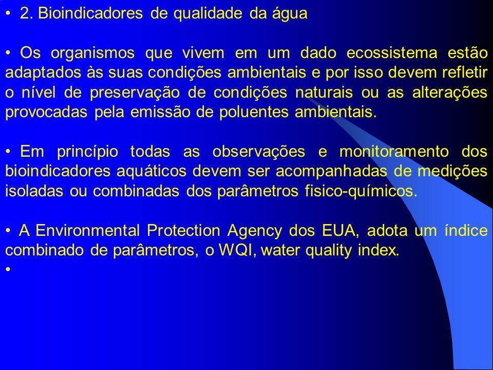 2. Bioindicadores de qualidade da água