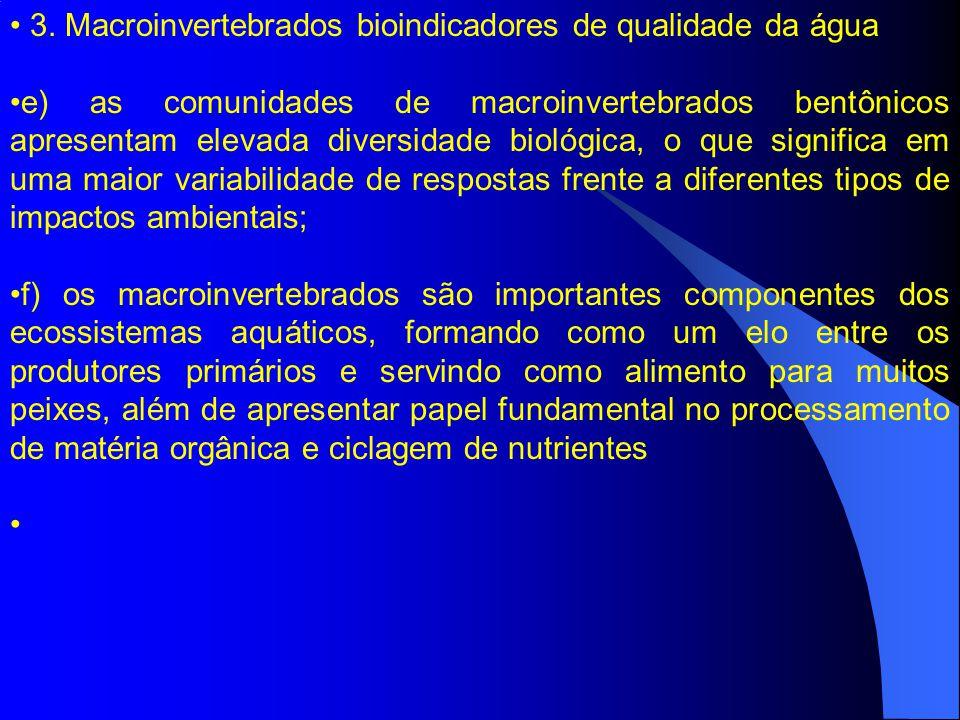 3. Macroinvertebrados bioindicadores de qualidade da água