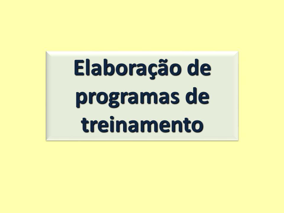 Elaboração de programas de treinamento