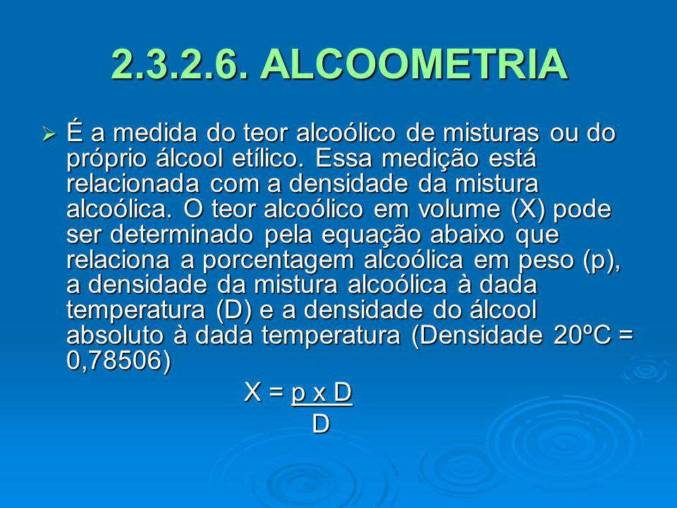 2.3.2.6. ALCOOMETRIA