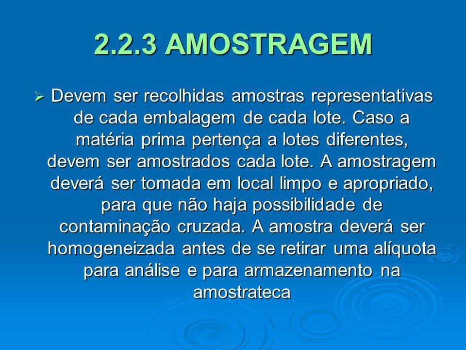 2.2.3 AMOSTRAGEM