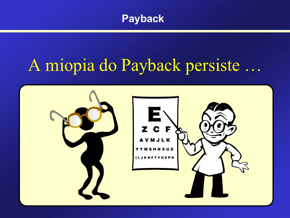 A miopia do Payback persiste …