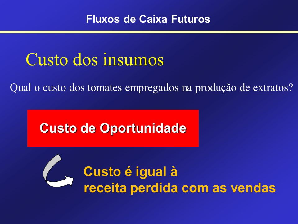 Fluxos de Caixa Futuros