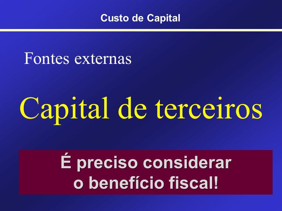 É preciso considerar o benefício fiscal!