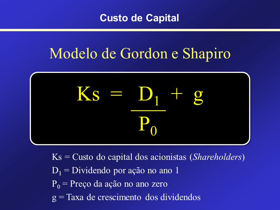 Modelo de Gordon e Shapiro