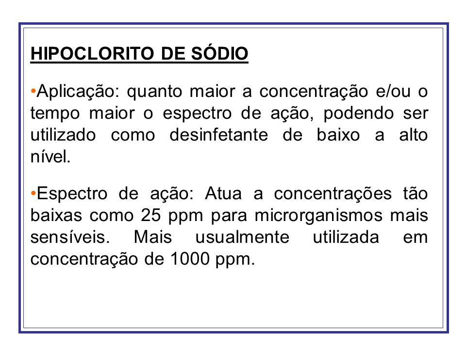 HIPOCLORITO DE SÓDIO