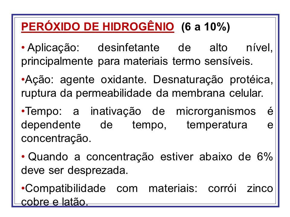 PERÓXIDO DE HIDROGÊNIO (6 a 10%)