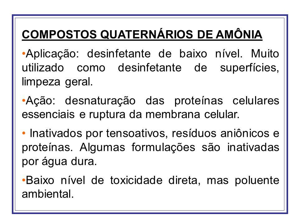 COMPOSTOS QUATERNÁRIOS DE AMÔNIA