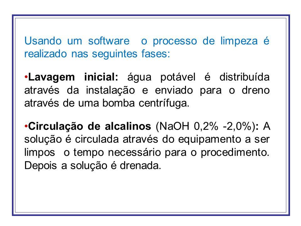 Usando um software o processo de limpeza é realizado nas seguintes fases: