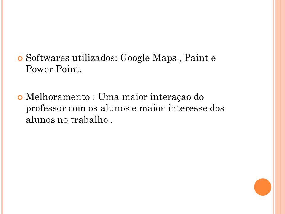 Softwares utilizados: Google Maps , Paint e Power Point.