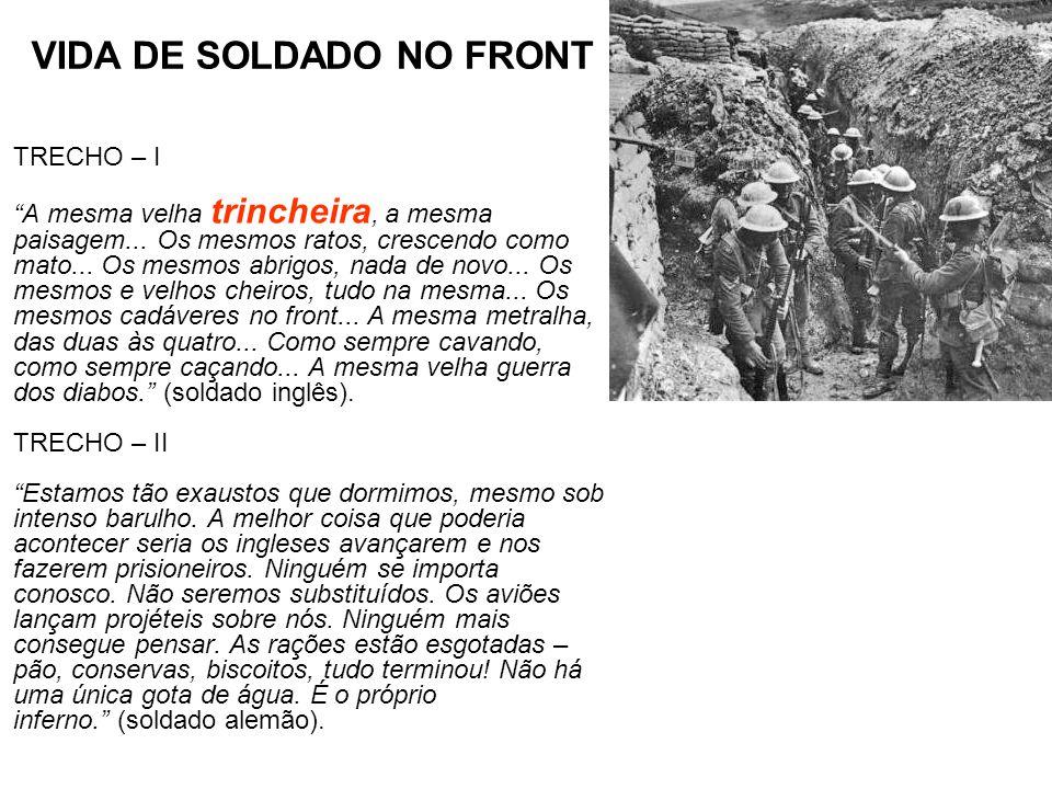 VIDA DE SOLDADO NO FRONT