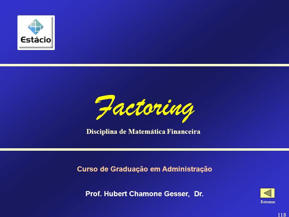 Factoring Disciplina de Matemática Financeira