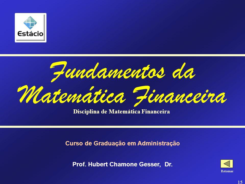Fundamentos da Matemática Financeira