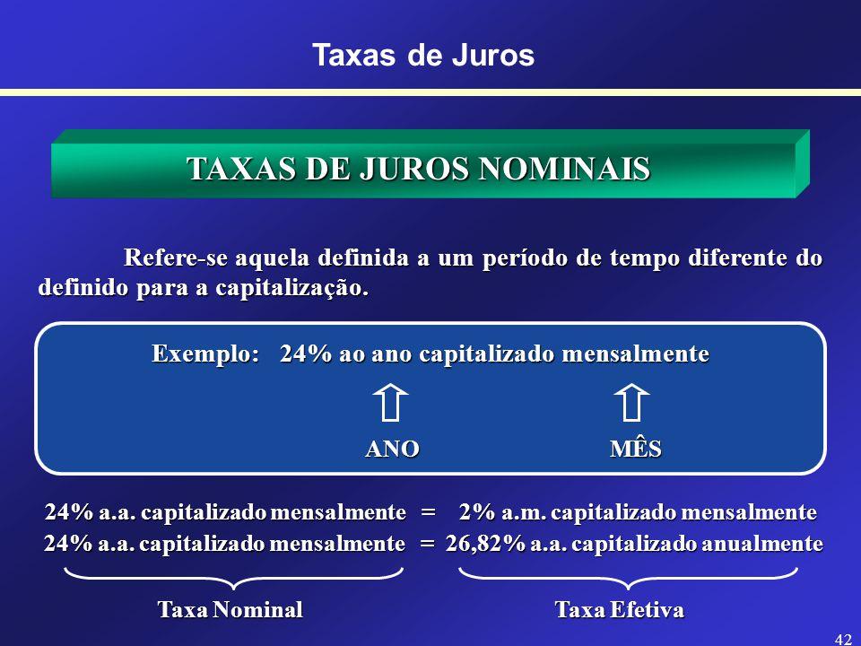 TAXAS DE JUROS NOMINAIS
