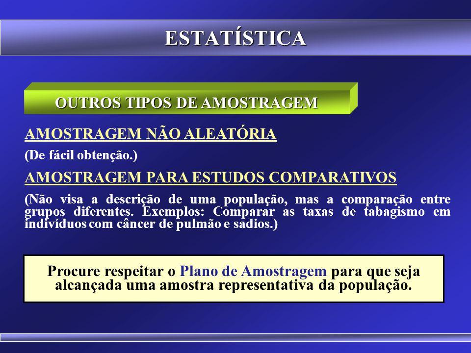 OUTROS TIPOS DE AMOSTRAGEM