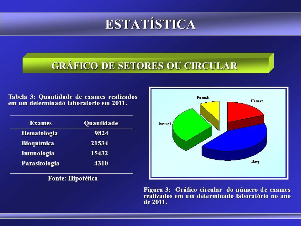 GRÁFICO DE SETORES OU CIRCULAR