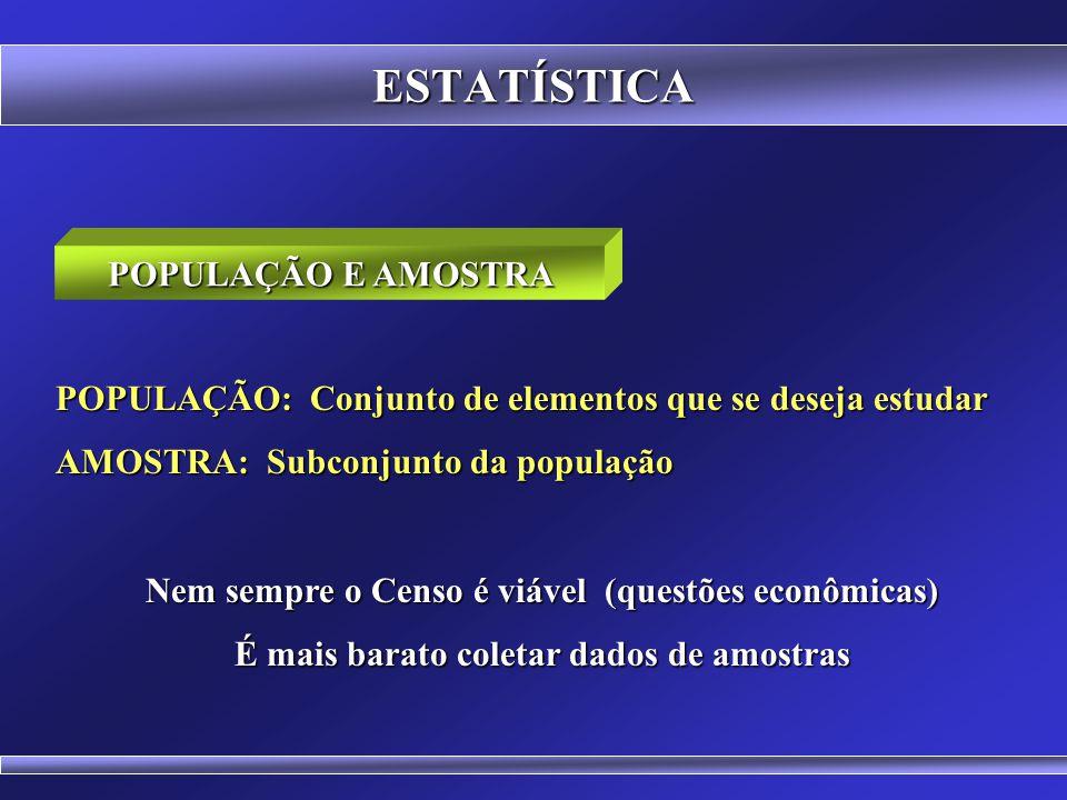 ESTATÍSTICA POPULAÇÃO E AMOSTRA