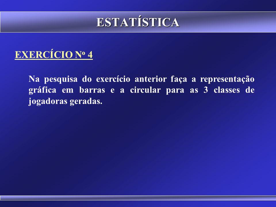 ESTATÍSTICA EXERCÍCIO No 4