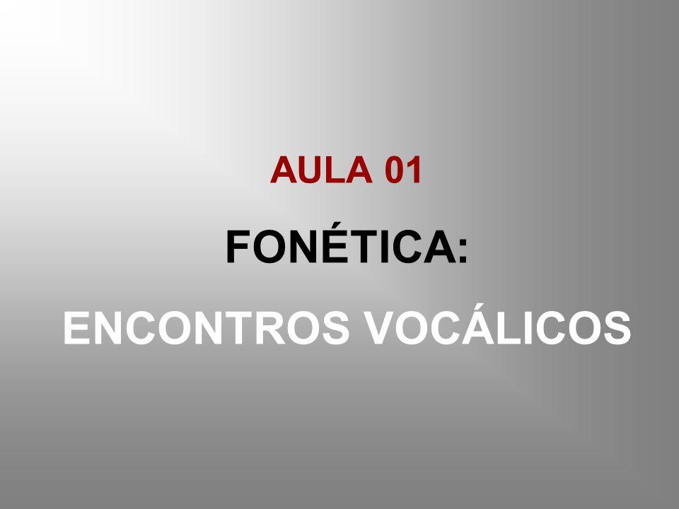 FONÉTICA: ENCONTROS VOCÁLICOS