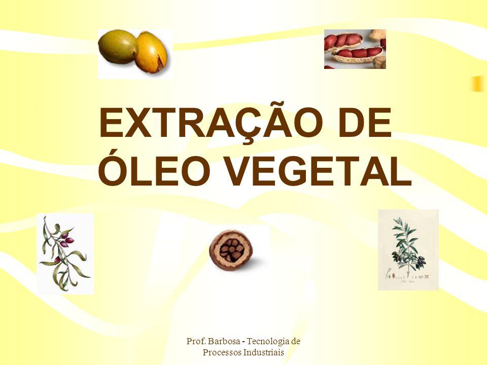 EXTRAÇÃO DE ÓLEO VEGETAL