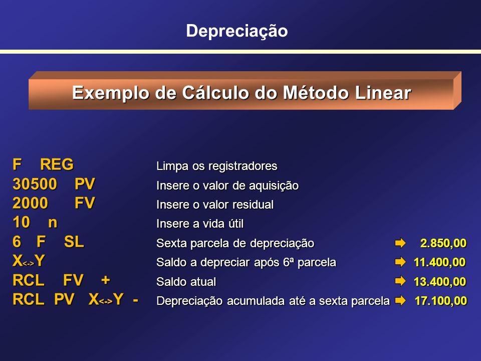 Exemplo de Cálculo do Método Linear