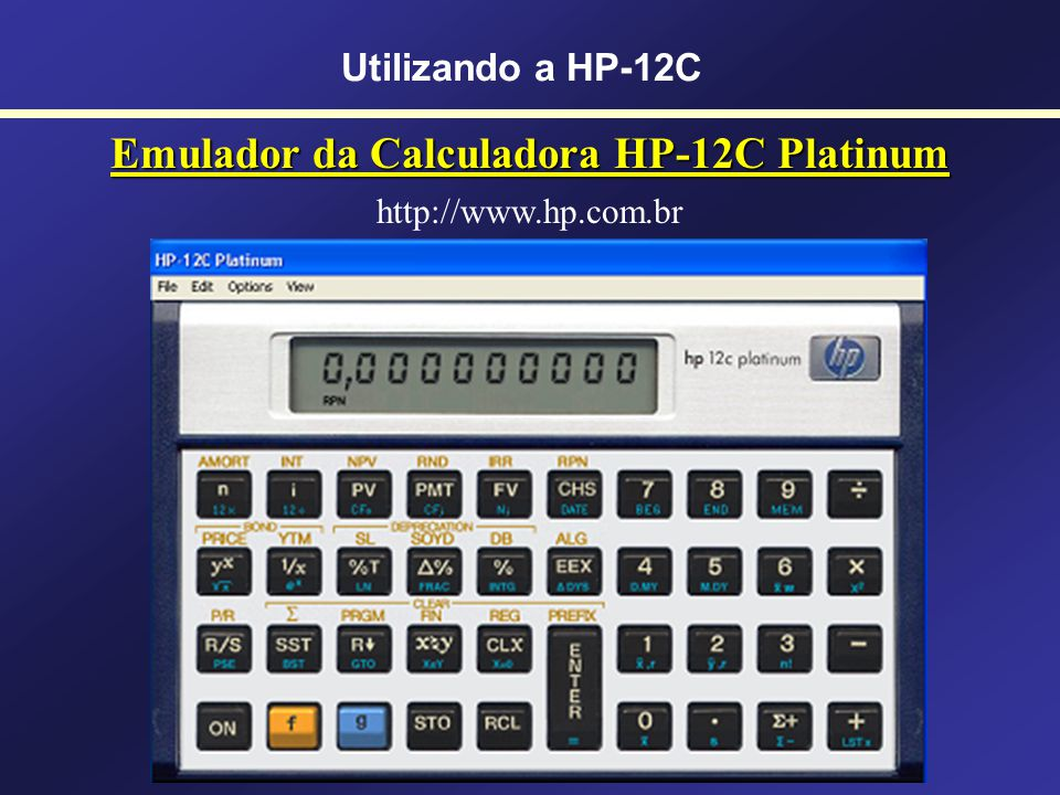 Emulador da Calculadora HP-12C Platinum