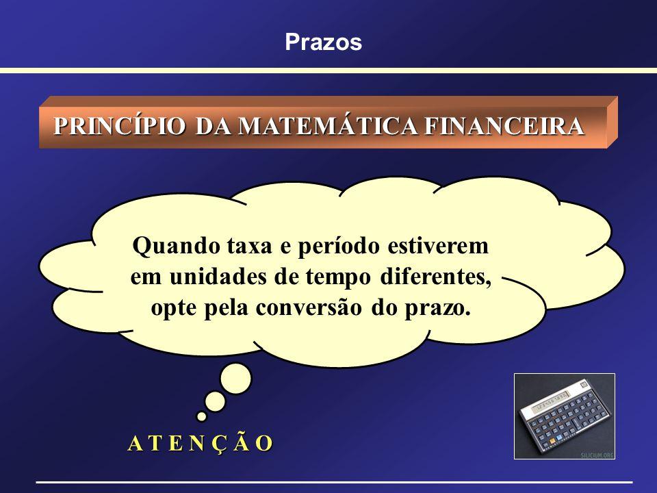 PRINCÍPIO DA MATEMÁTICA FINANCEIRA