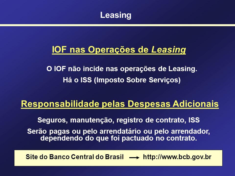 IOF nas Operações de Leasing