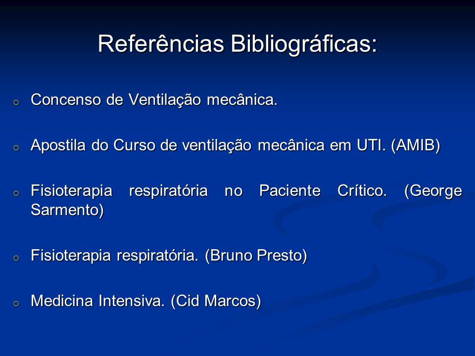 Referências Bibliográficas: