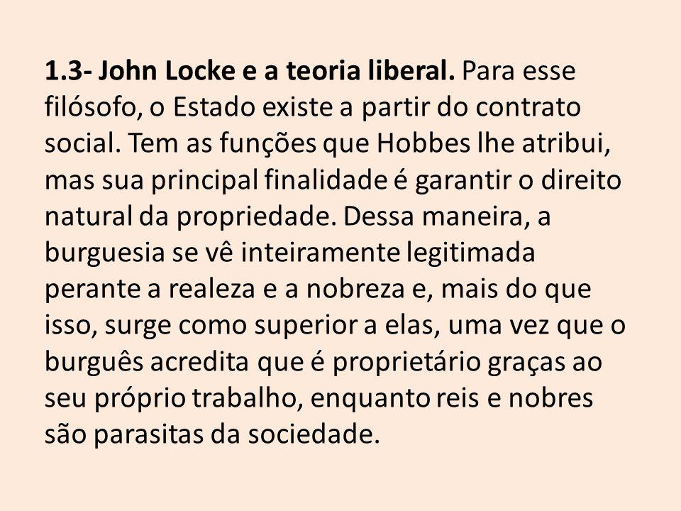 1. 3- John Locke e a teoria liberal