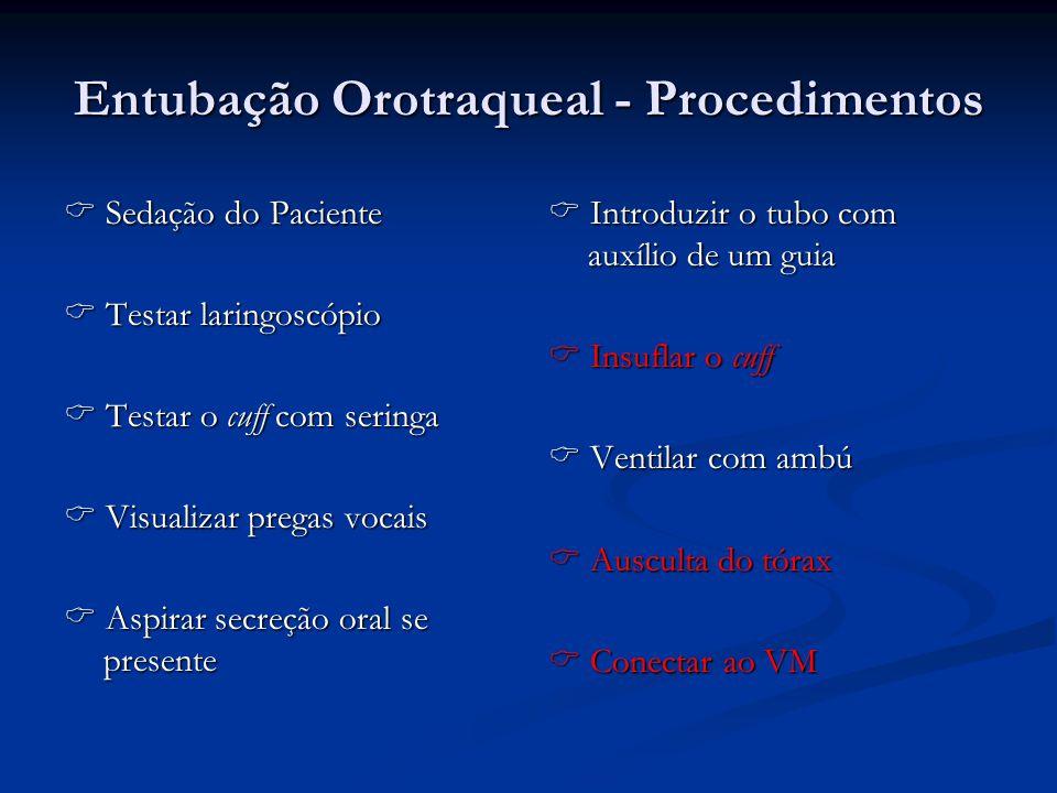 Entubação Orotraqueal - Procedimentos